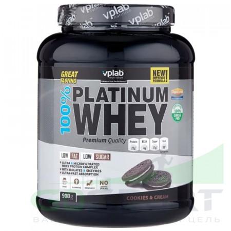 Протеин VPLab 100% Platinum Whey 908г Печенье-крем