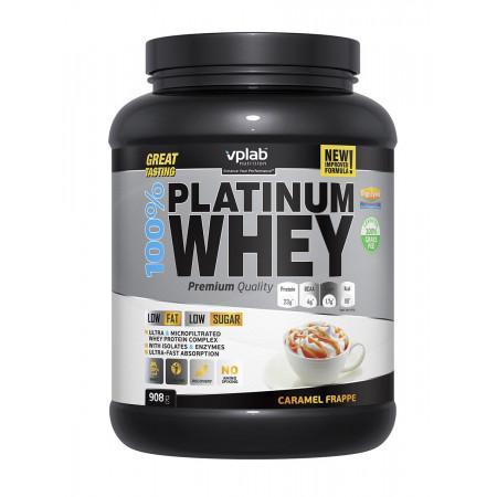Протеин VPLab 100% Platinum Whey 908г Карамельный фраппе