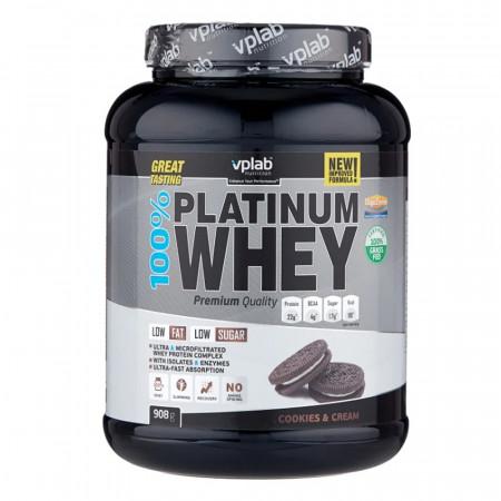 Протеин VPLab 100% Platinum Whey 2300г Печенье-крем
