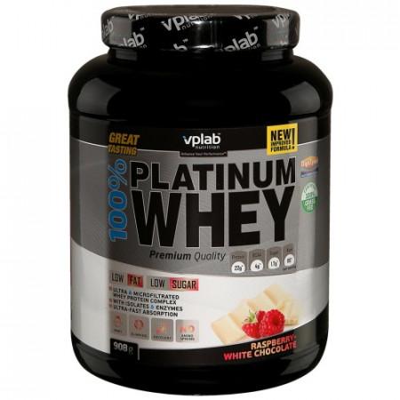Протеин VPLab 100% Platinum Whey 908г Белый шоколад-малина