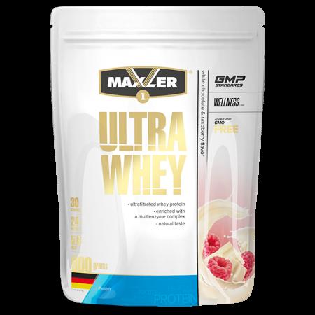 Протеин Maxler Ultra Whey 900г Белый шоколад-малина