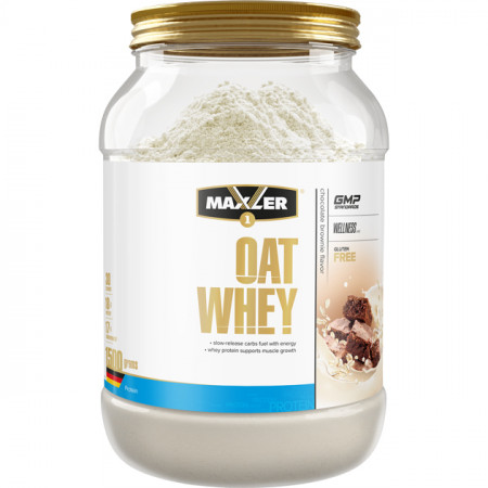 Протеин Maxler Oat Whey 1500г Шоколадный брауни