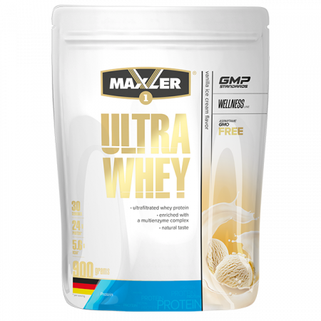 Протеин Maxler Ultra Whey 900г Ванильное морожное