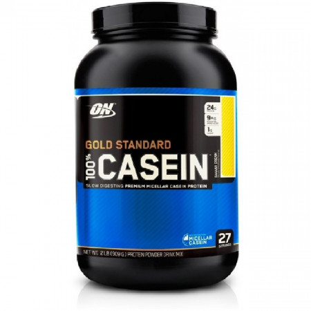 Протеин казеин Optimum Nutrition 100% Casein 908г Банановый крем
