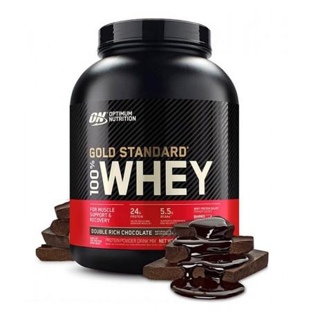Протеин Optimum Nutrition 100 % Whey protein Gold standard 2270г двойной шоколад