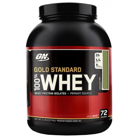Протеин Optimum Nutrition 100 % Whey protein Gold standard 2270г Мята-шоколад
