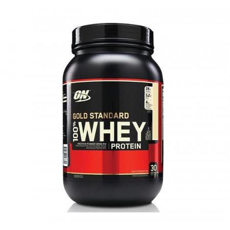 Протеин Optimum Nutrition 100 % Whey protein Gold standard 908г Ванильное мороженое