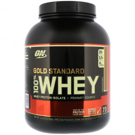Протеин OPTIMUM NUTRITION 100 % WHEY PROTEIN GOLD STANDARD 2270г Ванильное мороженое