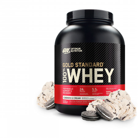 Протеин Optimum Nutrition 100 % Whey protein Gold standard 2270г Печенье крем