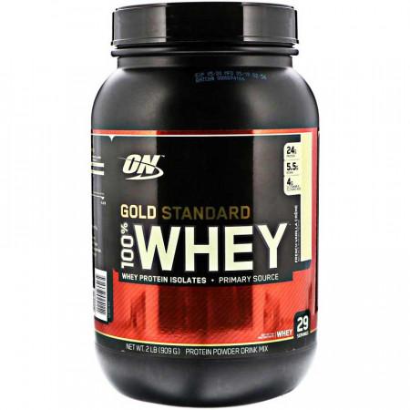 Протеин Optimum Nutrition 100 % Whey protein Gold standard 908г Франзуская ваниль