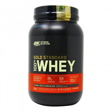 Протеин Optimum Nutrition 100 % Whey protein Gold standard 908г Двойной шоколад