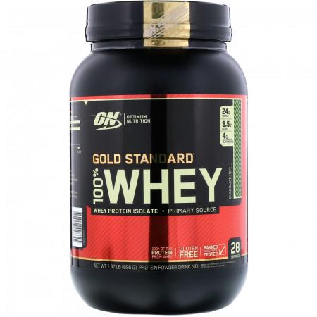 Протеин Optimum Nutrition 100 % Whey protein Gold standard 908г Банановый крем