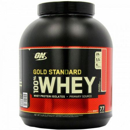 Протеин Optimum Nutrition 100 % Whey protein Gold standard 2270г Клубника
