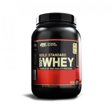 Протеин Optimum Nutrition 100 % Whey protein Gold standard 908г Клубника-банан