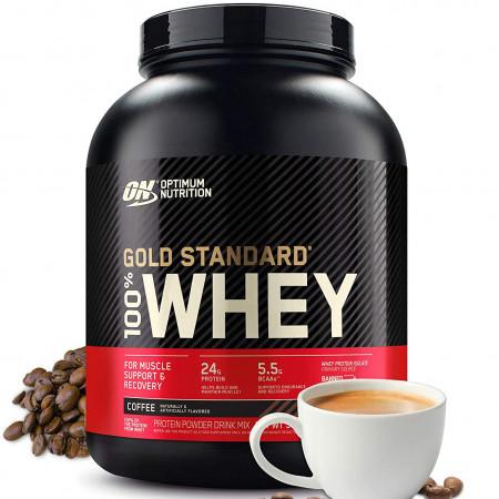 Протеин Optimum Nutrition 100 % Whey protein Gold standard 2270г Кофе