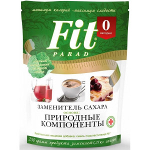 Сахарозаменитель Fit Parad № 7 - 250гр - смесь подсластителей на основе эритритола (дойпак)
