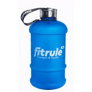 Бутылка для воды  FitRule прорезиненный металлическая крышка 2.2L Синий