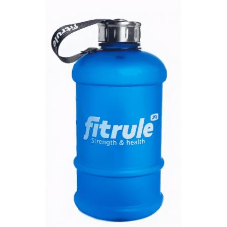 Бутыль FitRule прорезиненный металлическая крышка 2.2L синий