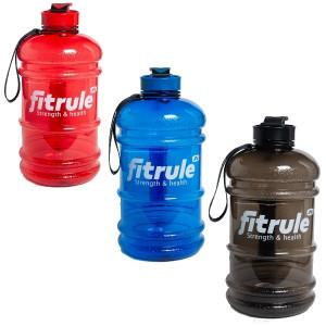 Бутылка для воды  FitRule прорезиненный металлическая крышка 1.3л Черная