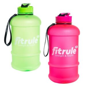 Бутылка для воды FitRule прорезиненный крышка щелчок 2.2л