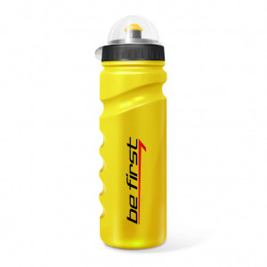 Бутылка для воды Be First  750мл Желтая с крышкой