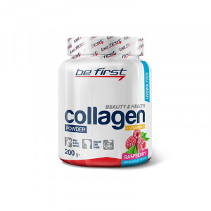 Коллаген+витамин С Be First Collagen + vitamin C 200г  Малина