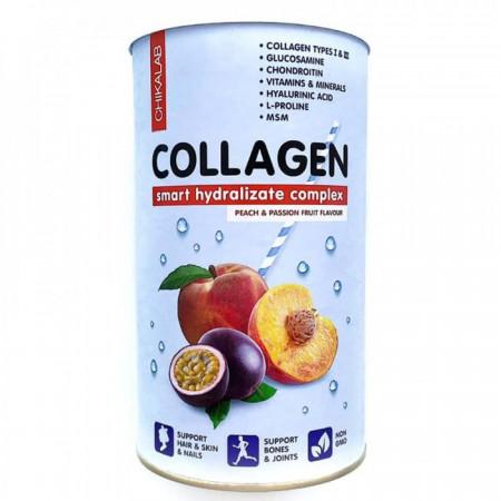 Bombbar CHIKALAB Коктейль Collagen Персик-маракуйя 400 г