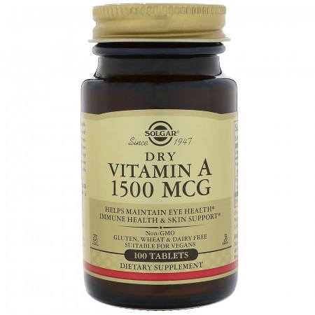 Витамин А Solgar Dry Vitamin A 1500 mcg 100 таблеток