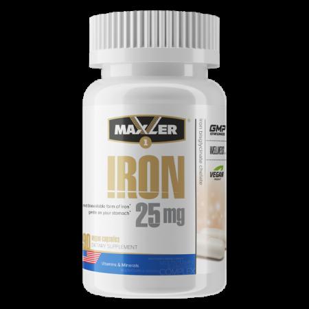 Железо Maxler Iron 25 mg Bisglycinate Chelate 90 капсул