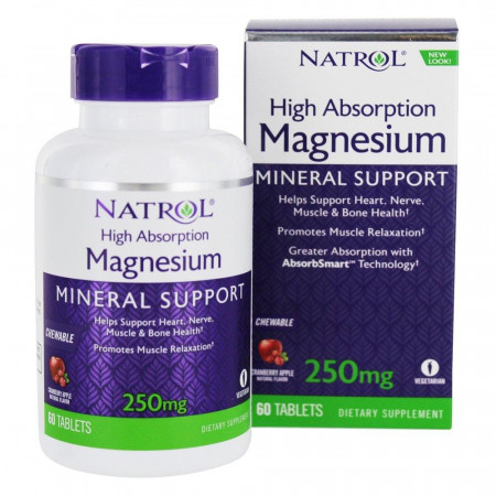 Магний Natrol Magnesium High Absorption 60 капсул