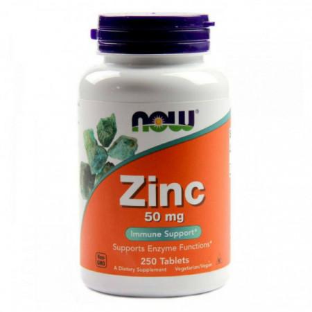 Цинк NOW Zinc Gluconate 50 mg 100 таблеток