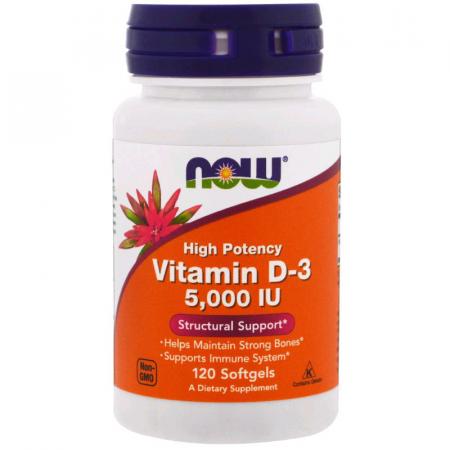 Витамин д-3 NOW Vitamin D-3 5000 ME 240 капсул