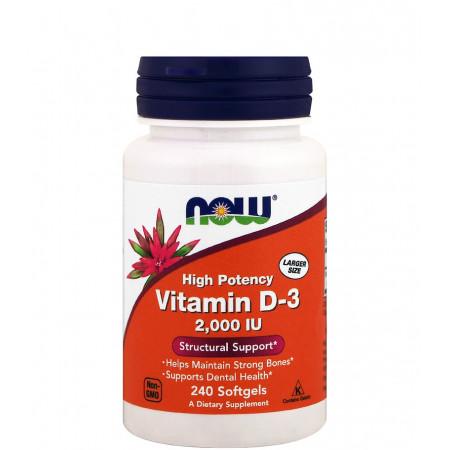 Витамин Д-3 NOW Vitamin D-3 2000 ME 240 капсул