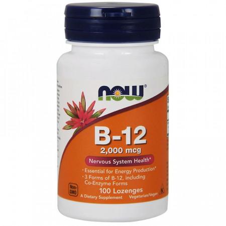Витамин Б-12 NOW B-12 2000mcg 100 таблеток