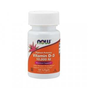 Витамин Д-3 NOW Vitamin D-3 10000 ME 120 капсул