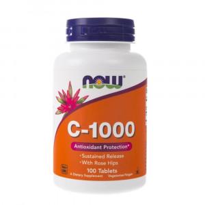 Витамин С с шиповником NOW C-1000  100 таблеток