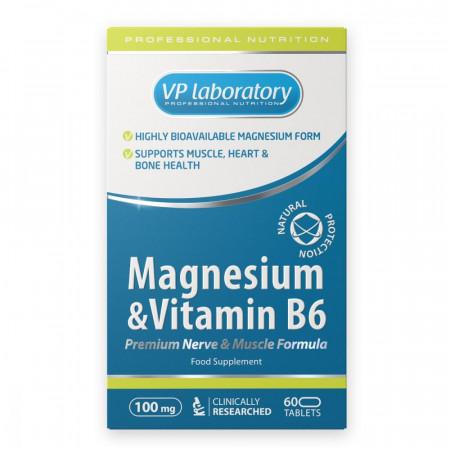Магний-Б6 VPLab Magnesium & Vitamin B6 60 таблеток
