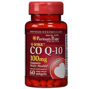 Коэнзим Puritan's Pride CO Q-10 100mg 60 мягких капсул