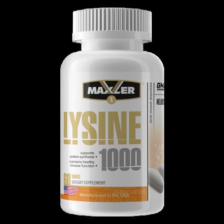 Аминокислоты  Лизин Maxler Lysine 1000 60 таблеток