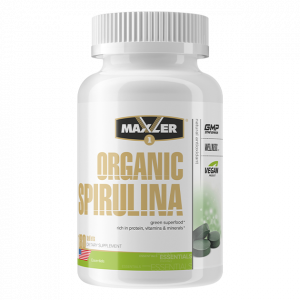 Спирулина Maxler Organic Spirulina 505 mg 180 таблеток