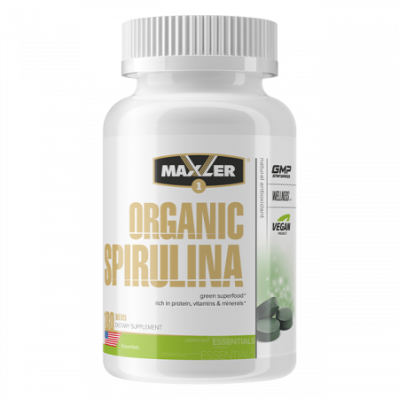 Maxler Organic Spirulina 505 mg 180 таблеток