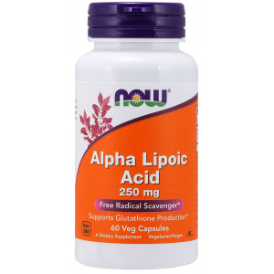 Альфа-липоевая кислота NOW Alpha Lipoic Acid 250mg 60 капсул